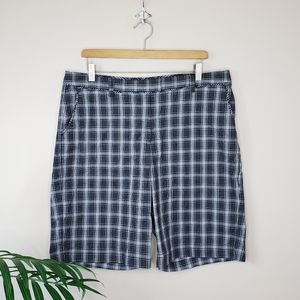 Lady Hagen | Black White Plaid Bermuda Golf Shorts